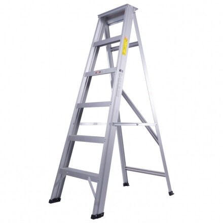 Worker Premier 4 / 5 / 6 / 7 / 8 / 9 / 10 / 11 / 12 Steps Hardness Aluminium Single Sided Ladder