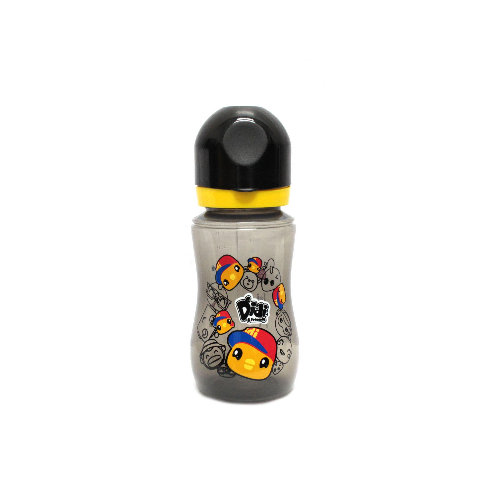 Didi & Friends 12OZ Wide Neck BPA Free Bottle Didi - Black Colour