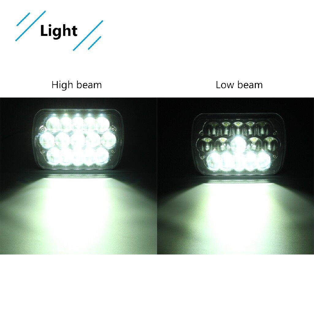 Car Lights - 7x6 5X7 LED Projector Headlight HiLo Sealed Beam For Jeep Cherokee XJ - Replacement Parts
