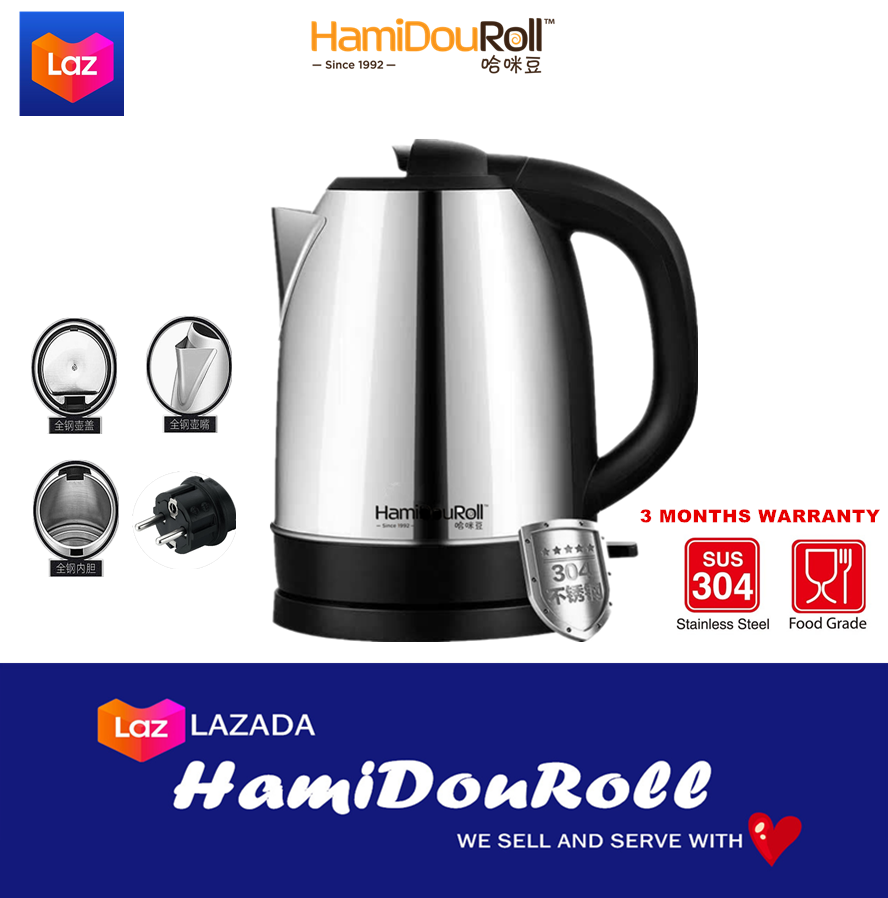HamiDouRoll Stainless Steel Electric Automatic Cut Off Jug Kettle 2L ???????????????2L????????????????? HMDKettle