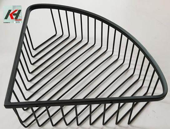 REGIS RYSSCB2102 304 STAINLESS STEEL CORNER SHAMPOO BASKET (MATTE BLACK)