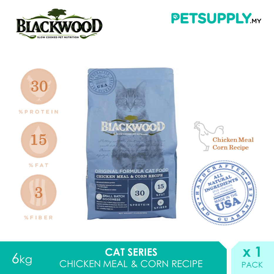 Blackwood Original Formula Cat Food Chicken Meal & Brown Rice Recipe 6kg [makanan kucing - Petsupply.my]