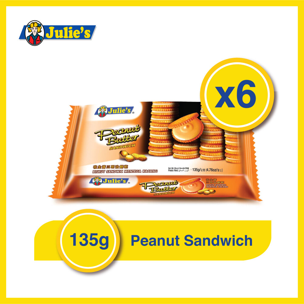 Julies Peanut Butter 135g x 6 packs