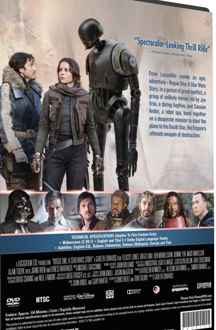 English Movie Rogue One : A Star Wars Story DVD