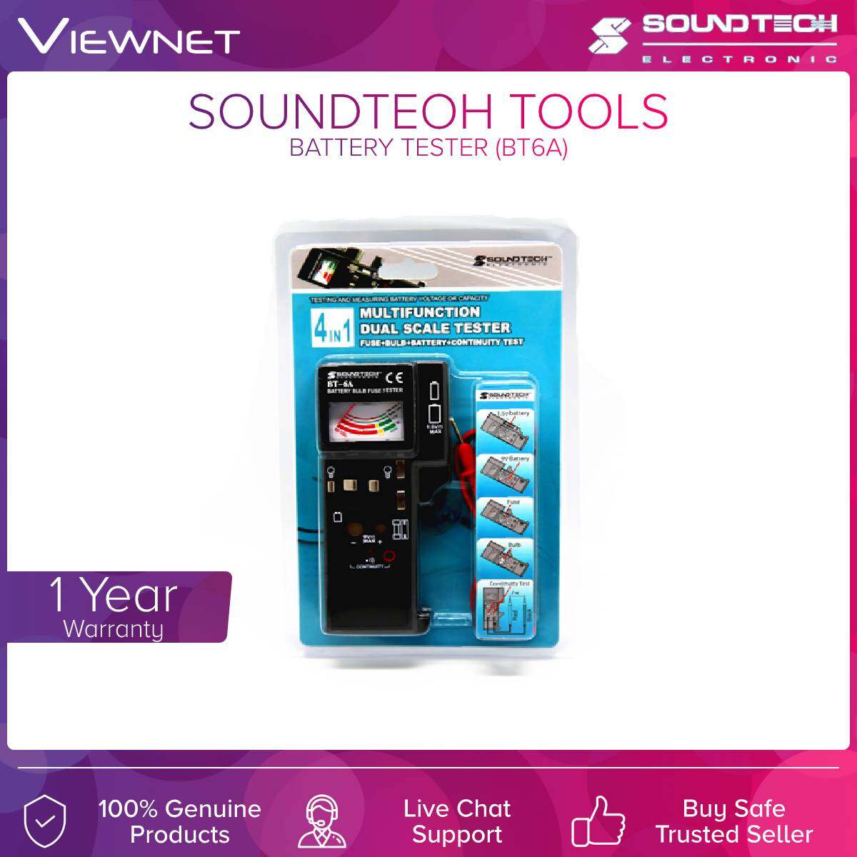 Soundteoh (BT6A) Tools Battery Tester
