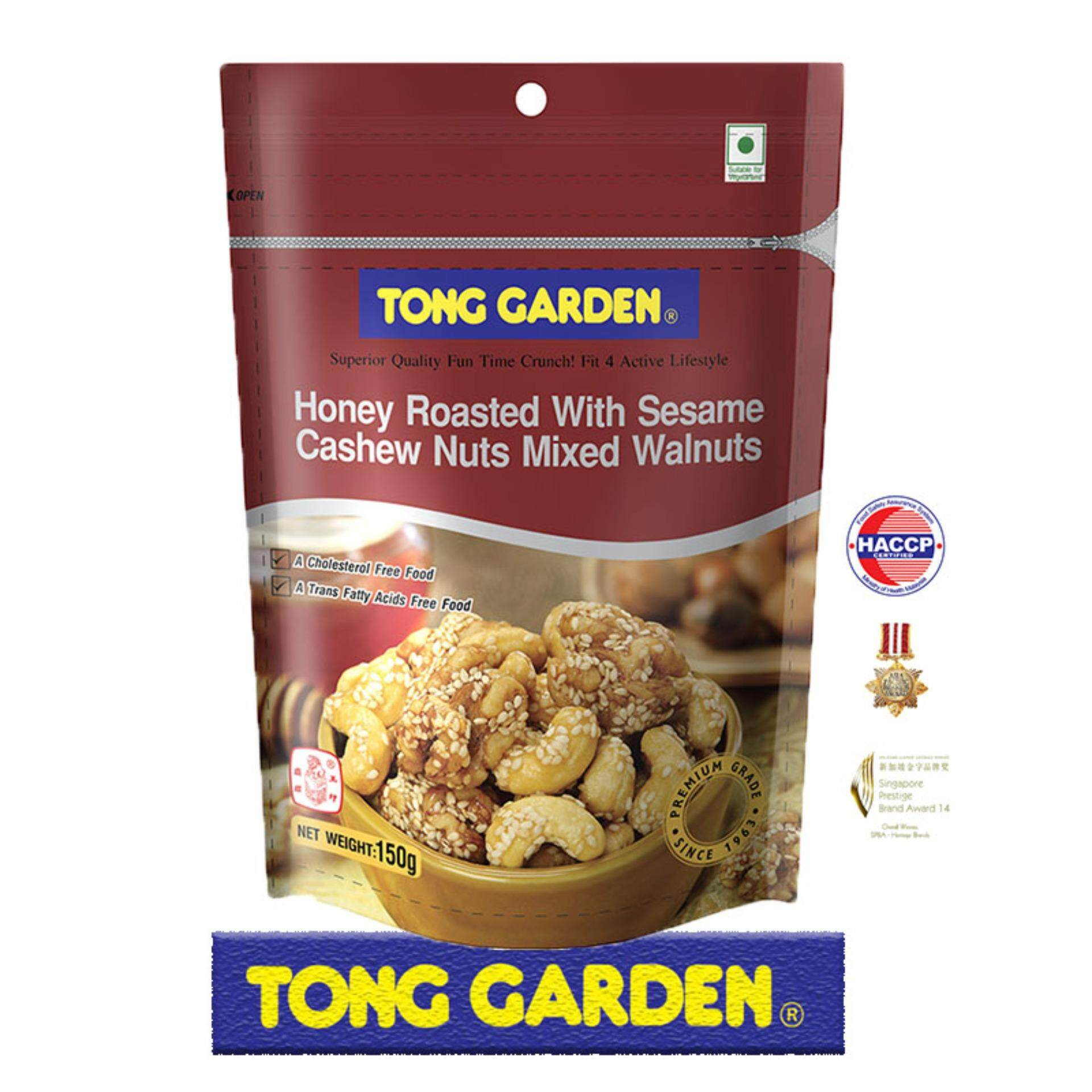 Tong Garden Cashew Nuts Mixed Walnuts Honey Roasted With Sesame 150G