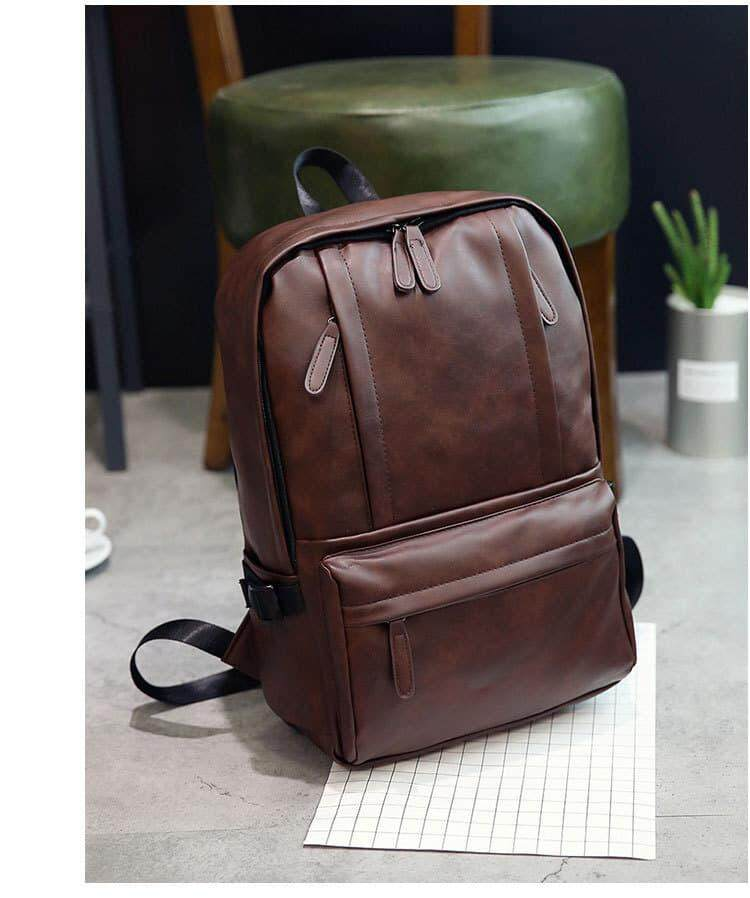 [M'sia Warehouse Direct] 2019 Korean Series Leather Laptop Backpack Business Bag Multipurpose Multifunctional  Stylish Travel Sling Student Bag Italy Designer Perfect Gift For Love One Fit For Macbook Ipad Tab