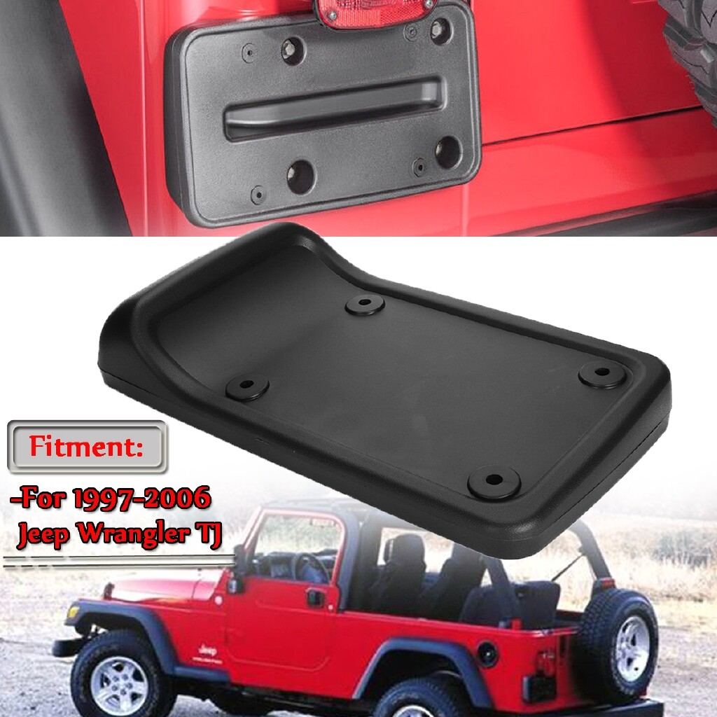 Automotive Tools & Equipment - Rear Tail License Plate Mounting Holder Bracket For 1997-2006 Jeep Wrangler TJ - Car Replacement Parts
