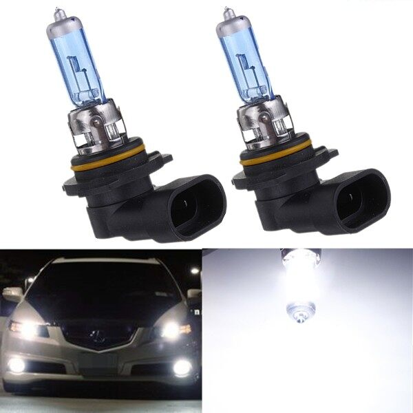 Engine Parts - HB4 9006 Pure White 55W 6000K Fog Halogen Headlight Replacement Lamp Light Bulb - Car Replacement
