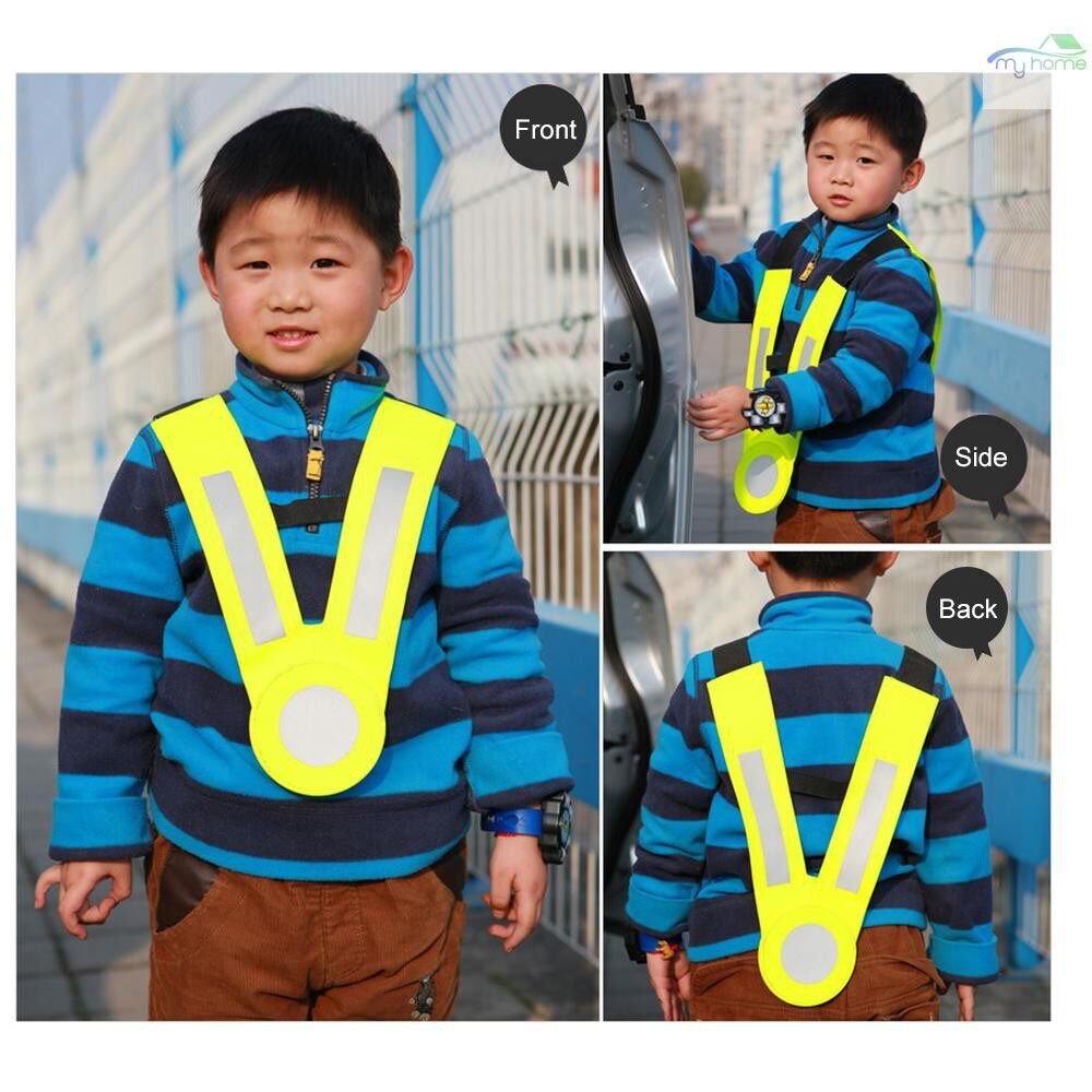Protective Clothing & Equipment - SFVest Children Reflective Vest Kindergarten Reflecting Tape Safety Clothing Reflective Strap Vests - RED / YELLOW