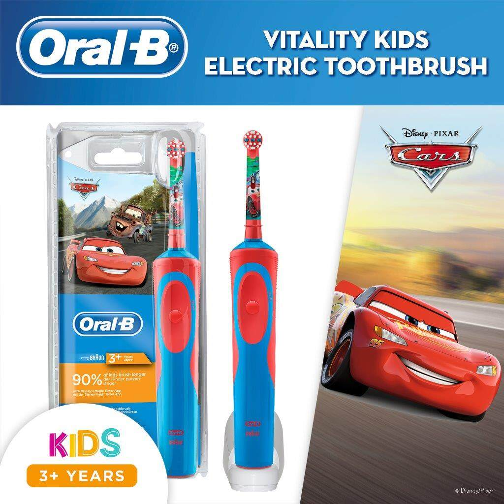 Oral-B Kids Cars Rechargeable Electric Toothbrush Powered by Braun
