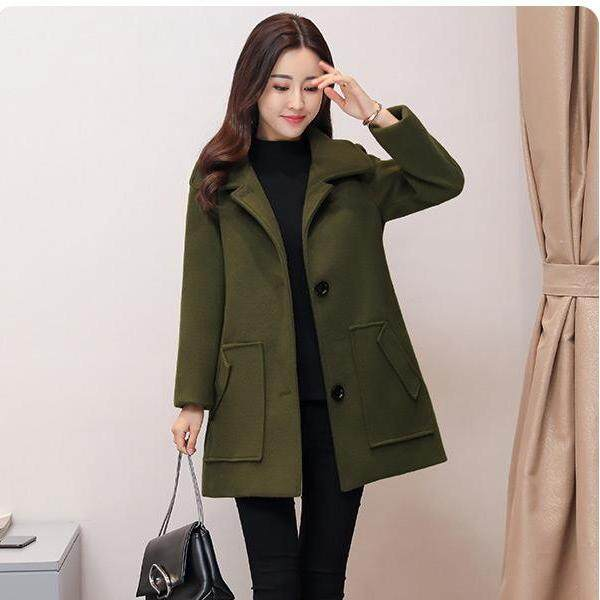 (Pre Order14 Days JYS Fashion Korean Style Women Winter CoatCollection522-435col522-435--Green -M