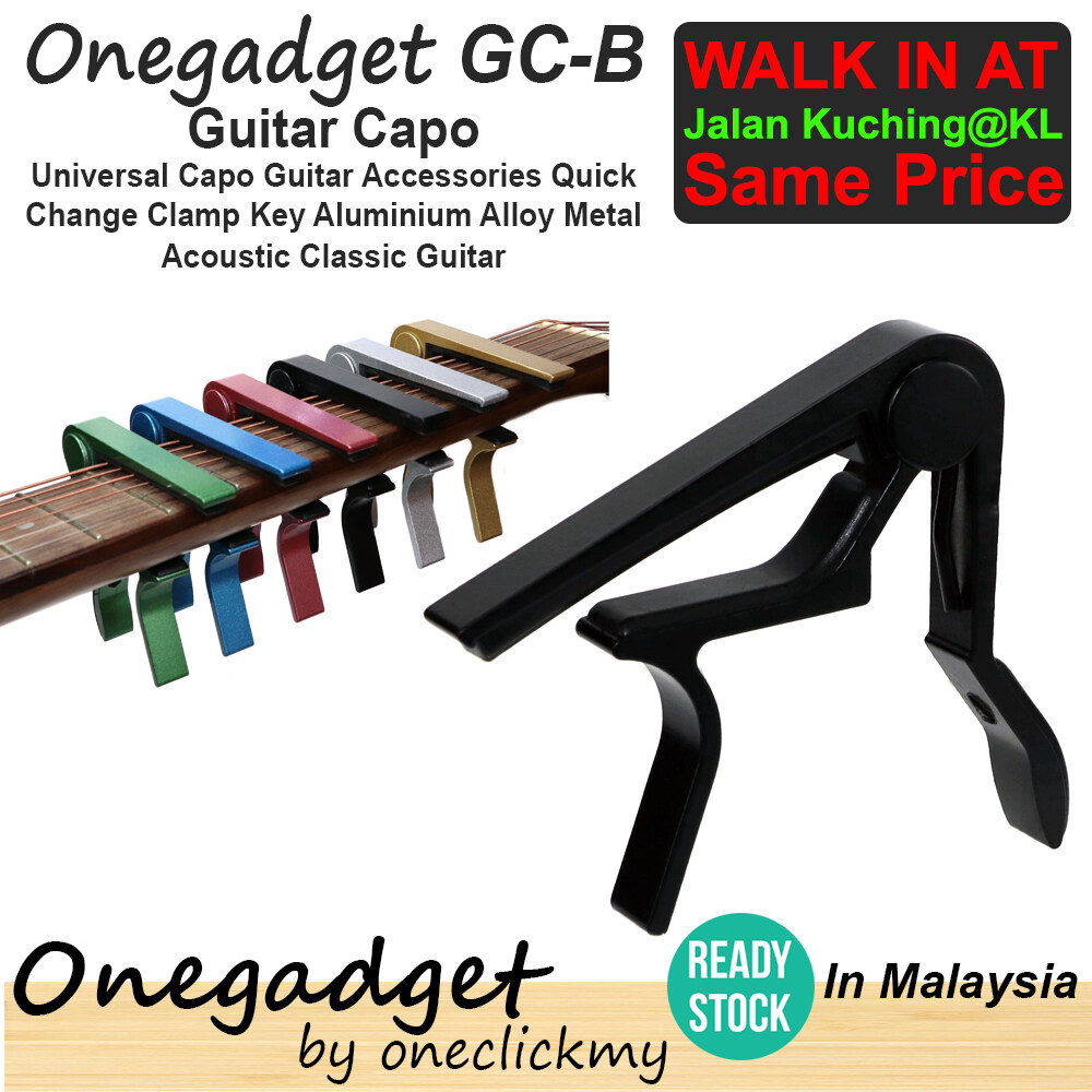 [READY STOCK]Onegadget GC Universal Capo Guitar Accessories Quick Change Clamp Key Aluminium Alloy Metal