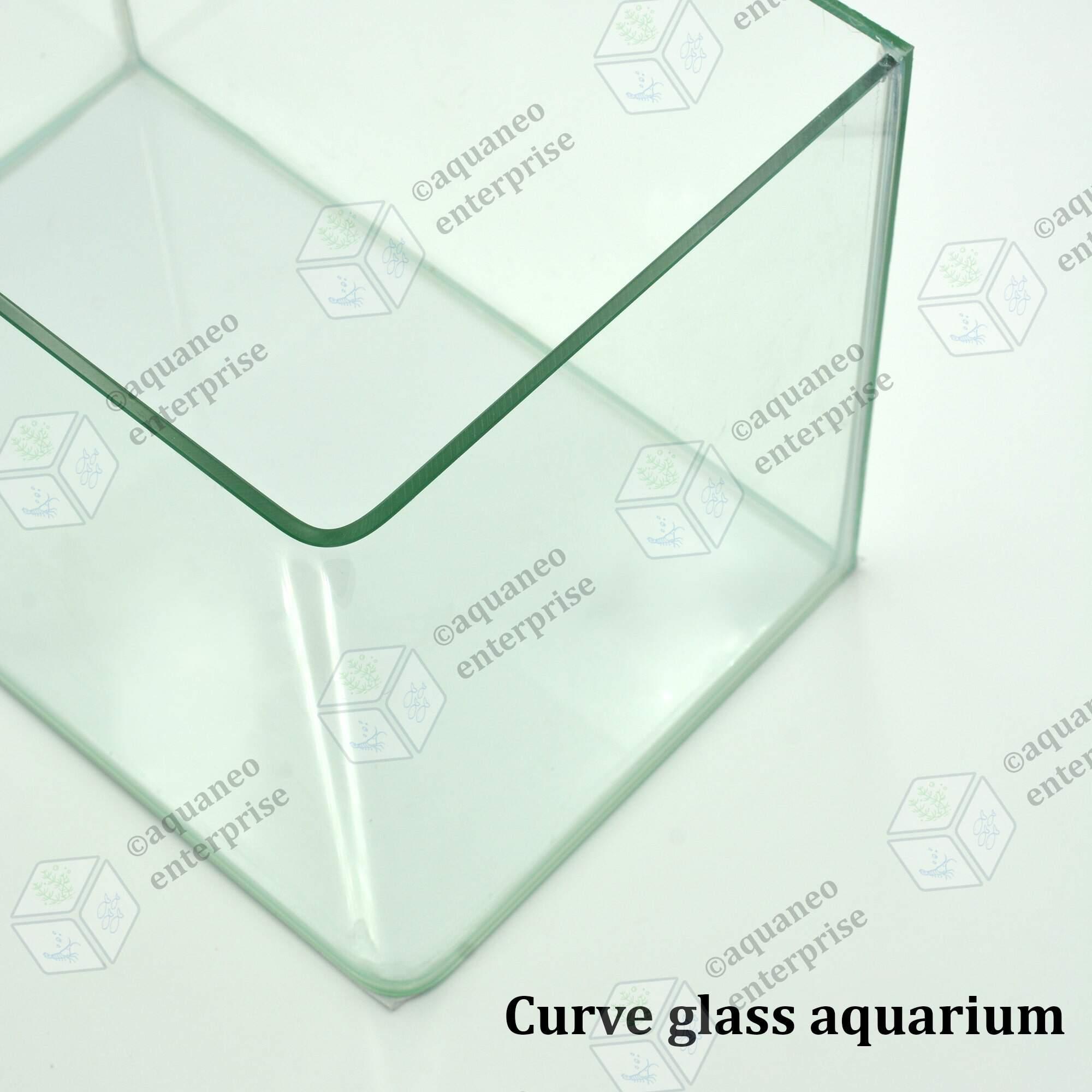 Curve Glass Aquarium Tank Fish Tank 30x19x21cm