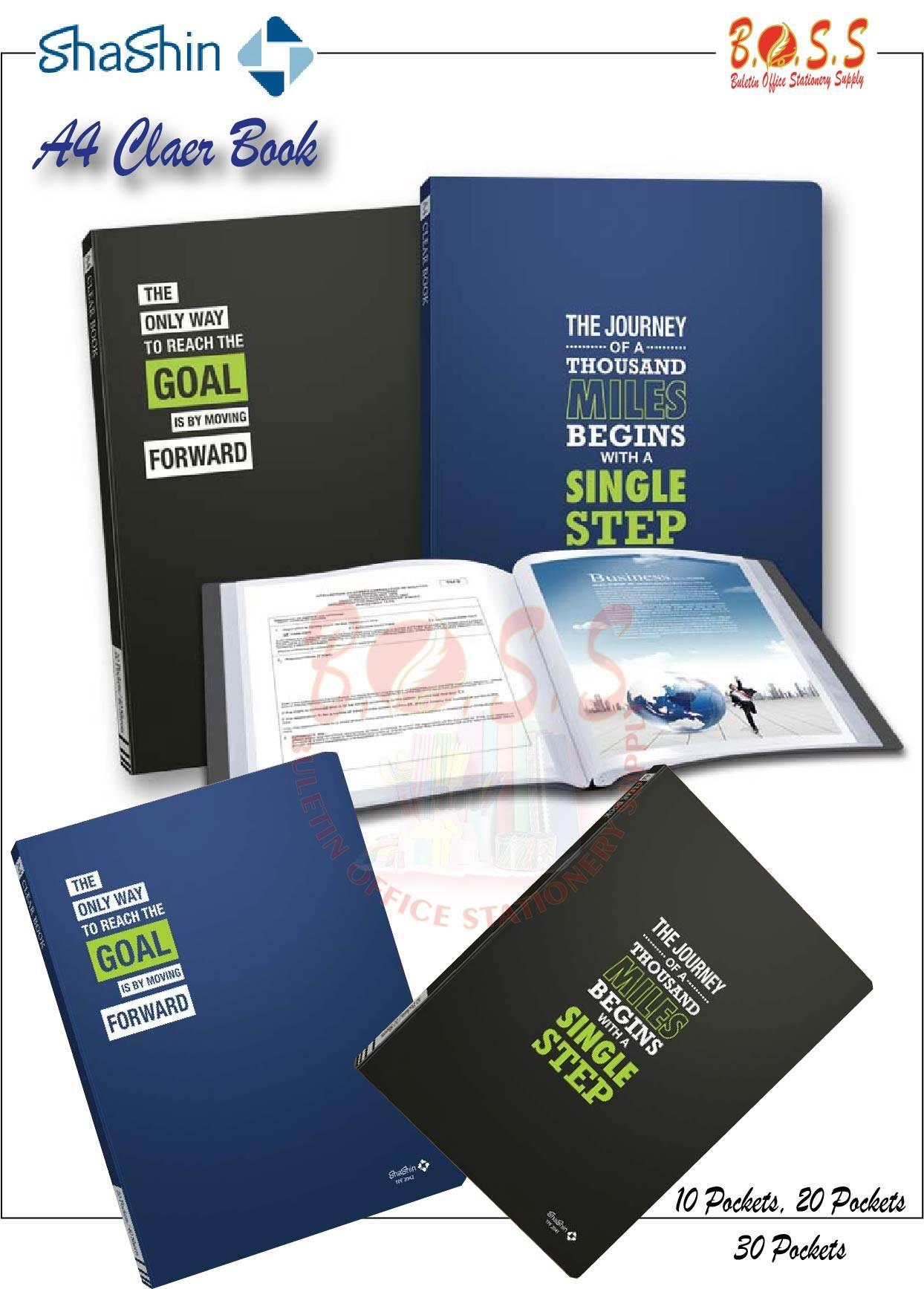 [Ready Stock]A4 Clear Book Document file 10 pockets, 20 pockets, 30 pockets