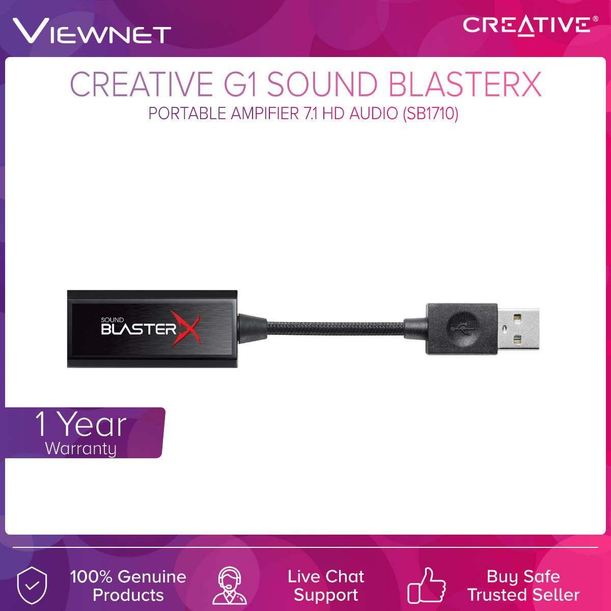 Creative (SB1710) G1 Sound BlasterX Protable Amprfier 7.1 HD Audio
