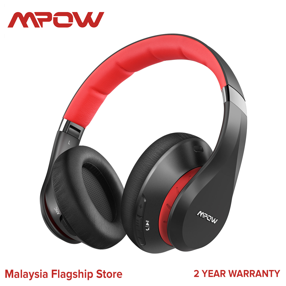 Mpow 059 plus  Active Noise Cancelling Headphones ANC Headphone Connect 2 device 50 Hours Playtime Bluetooth Headphones with Fast Charging, CVC 8.0 Microphone, Bluetooth 5.0, Memory Foam Earpads, Deep Bass, for PC Cell Phones TV