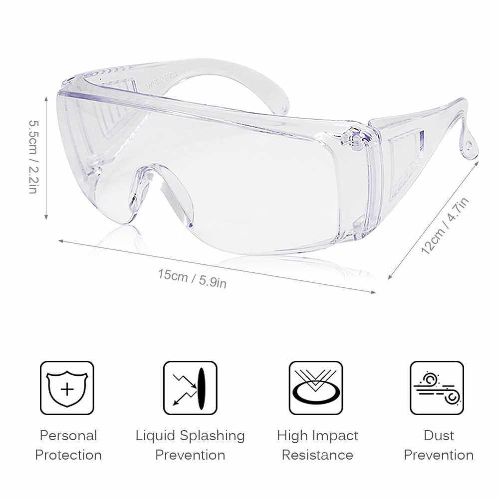 Safety Glasses Adults Personal Protective Eyewear with Clear Anti Fog Scratch Resistant Lenses Use with Prescription Glasses (Standard)