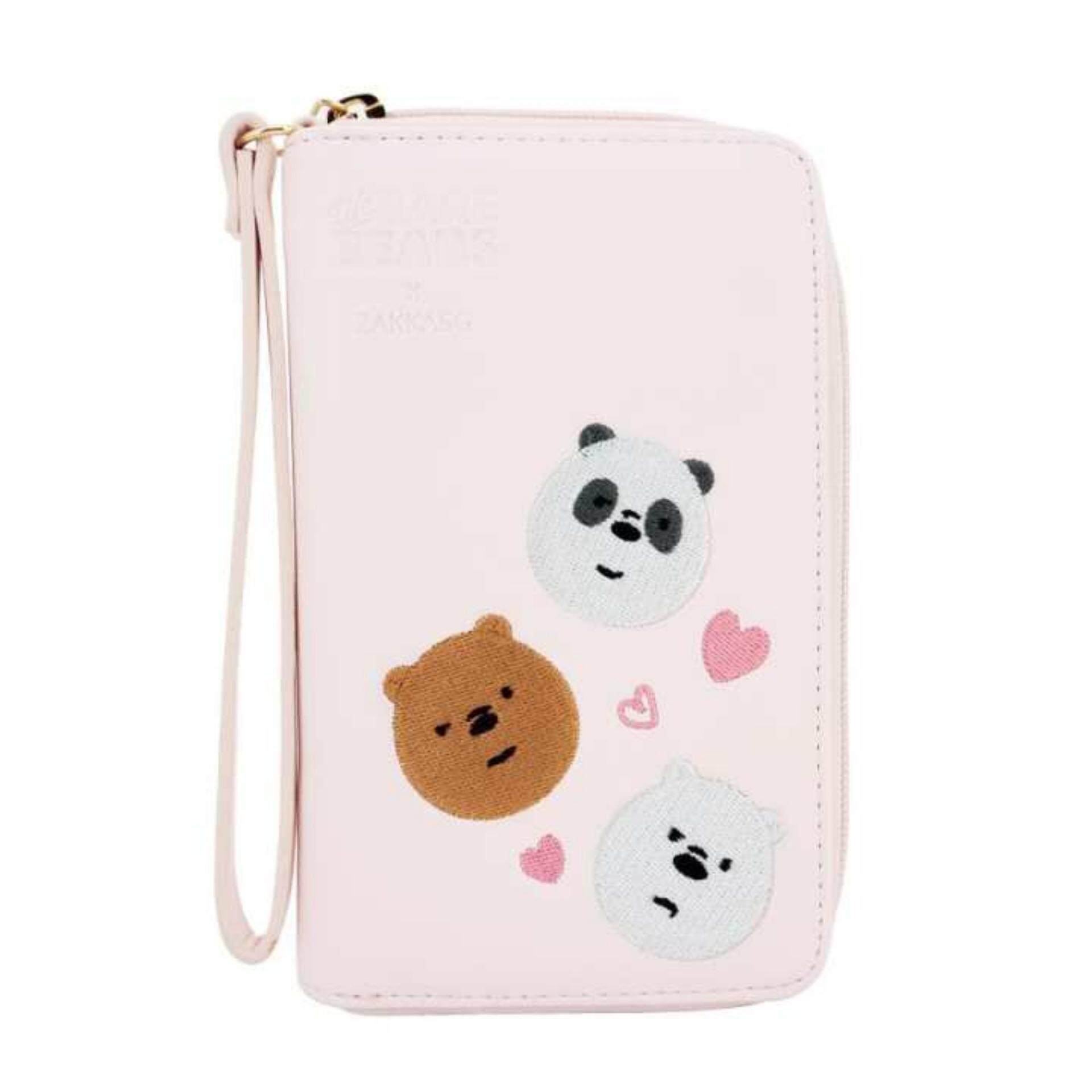 We Bare Bears Wristlet Wallet - Sakura Colour