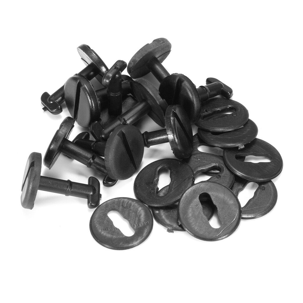 Wash & Wax - 10x For BMW Floor Carpet Mat Clips Twist Lock with Washers - Car Care
