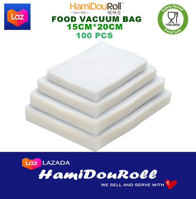 HamiDouRoll 2 Rolls Pack Vacuum Sealer Rolls Saver Bags & Vacuum Sealer Bag for Food Storage  ????????????????????? VacuumBag1015