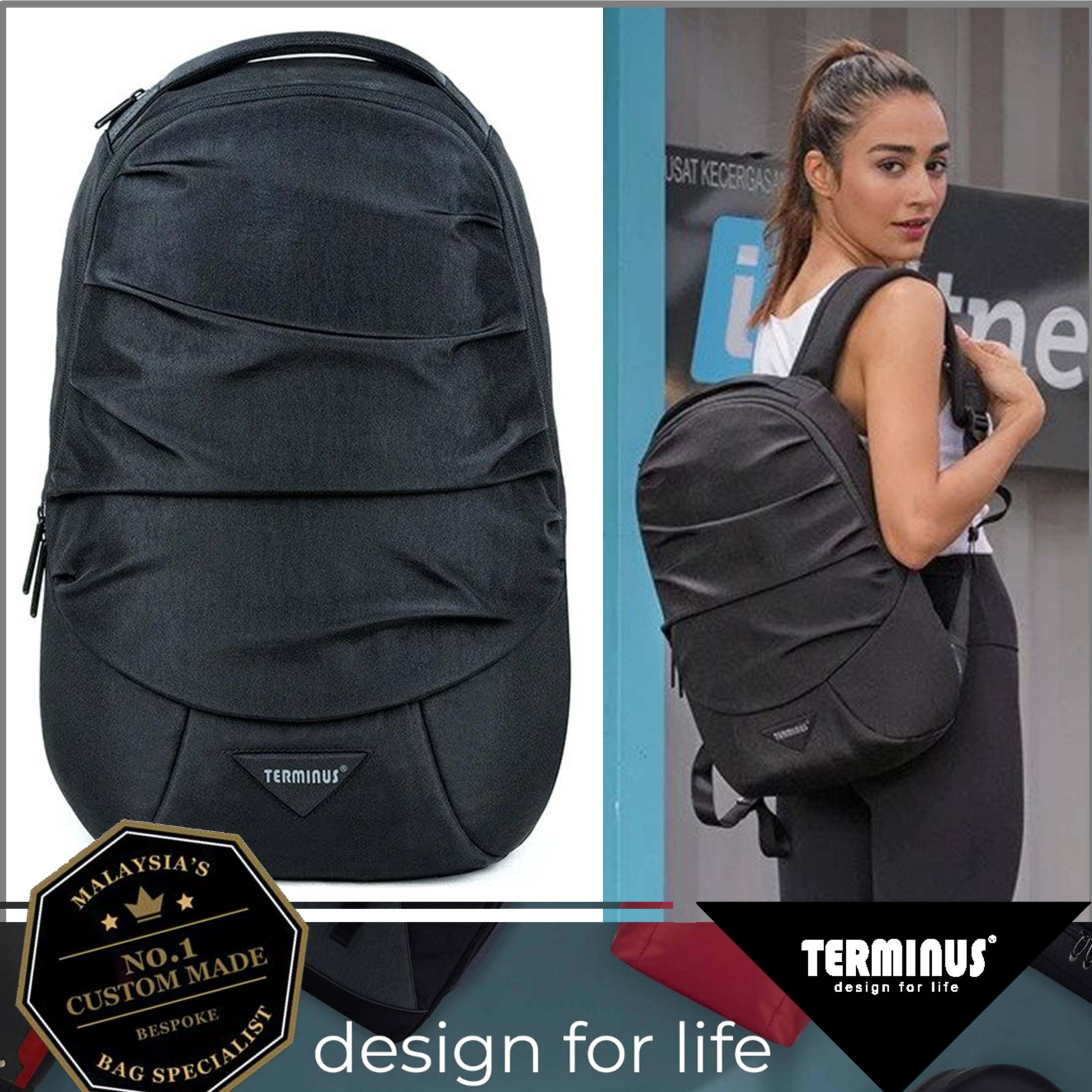 TERMINUS ® Wrinkle Ultra Light Anti Theft  Backpack Business Laptop Backpack Water Resistant Bookbag Travel College School Bookbag Computer Bag T02-690LAP-01