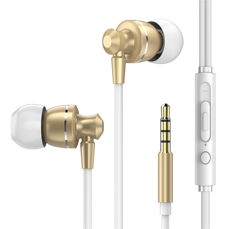 On-Ear Headphones - PTM D11 Super Bass Earphone Sport Noise Canceling Volume Control Head SET Metal Headphone - SILVER / BLACK / GOLD