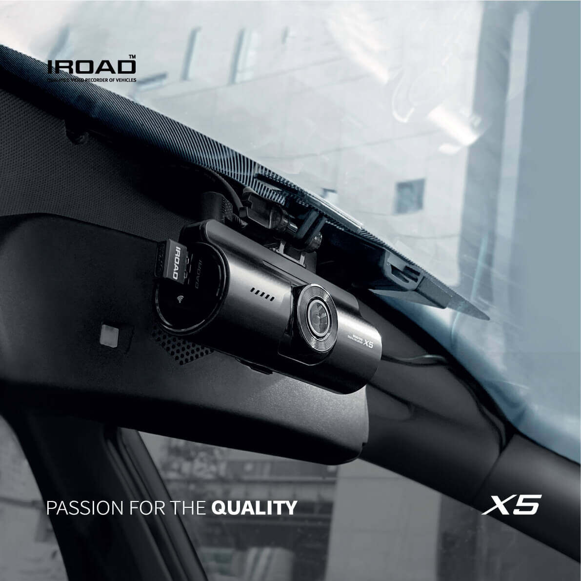 IROAD X5 DVR FRONT & REAR CAR RECORDER CAR DASH CAM CMOS FULL HD WI-FI (MADE IN KOREA) FREE 16GB MEMORY CARD