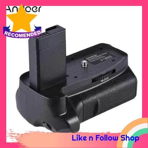 Andoer BG-1H Vertical Battery Grip Compatible with 2 * LP-E10 Battery for Canon EOS 1100D 1200D 1300D / Rebel T3 T5 T6 / kiss X50 X70 DSLR Cameras (Black Red)