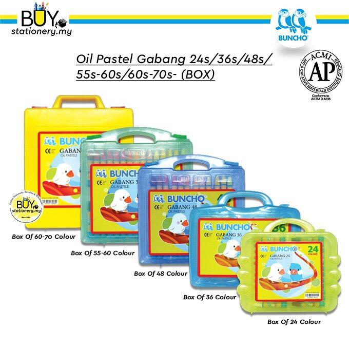 Buncho Oil Pastel Gabang 24s/36s/48s/55s/60s - (BOX)