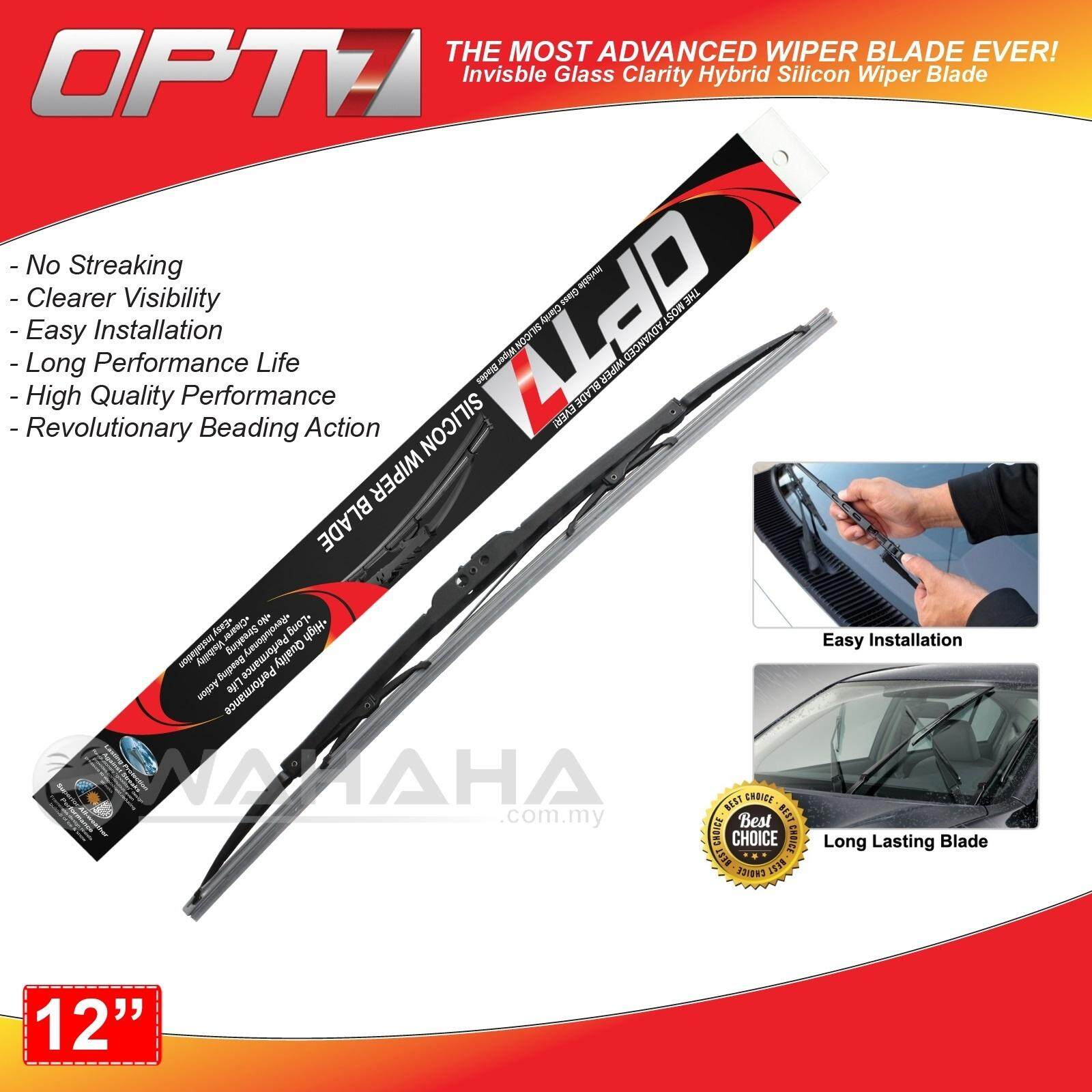 """OPT7 Window Windshield High Quality Silicon Wiper Blade 12"""""""