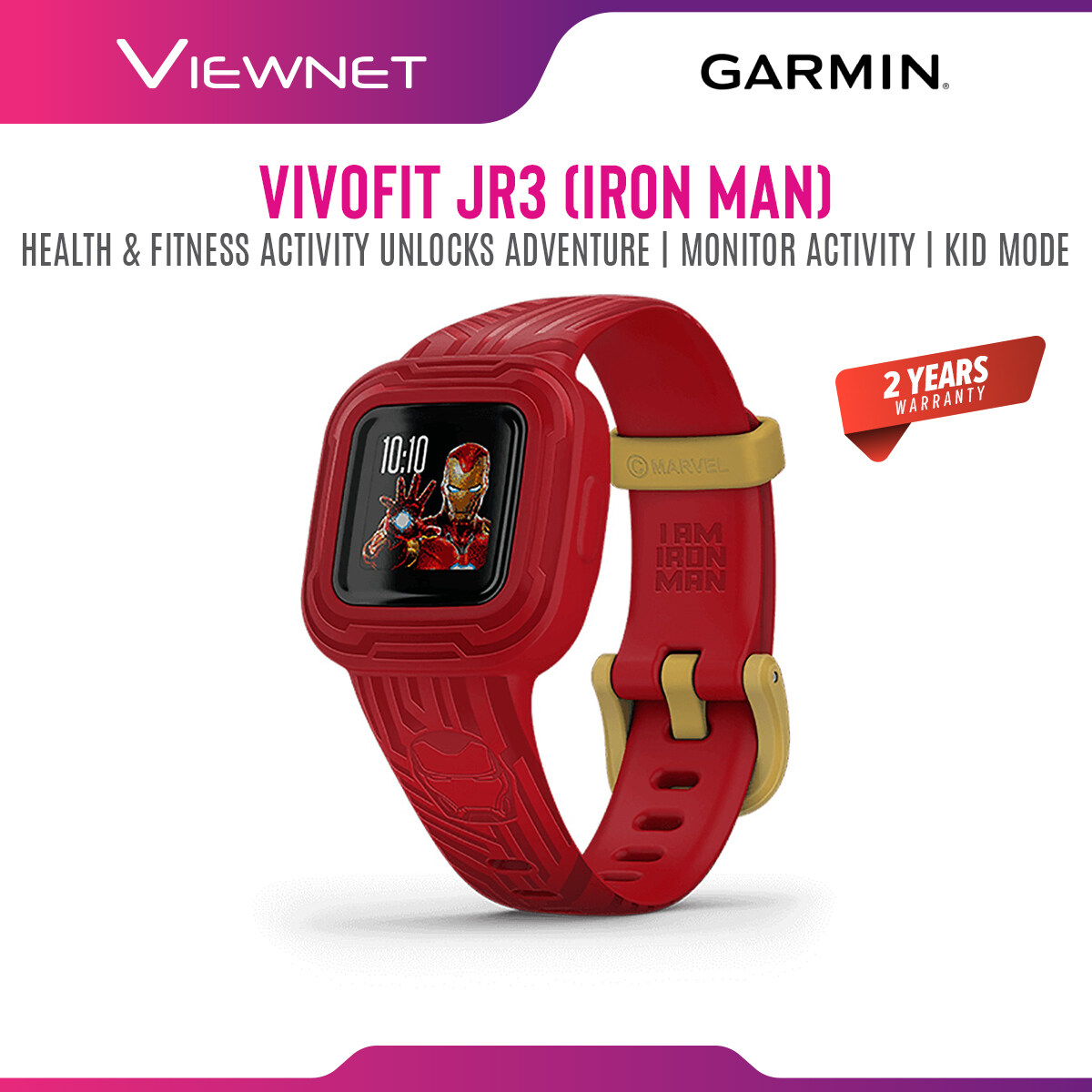 Garmin Vivofit jr. 3 HEALTH & FITNESS ACTIVITY UNLOCKS ADVENTURE, MONITOR ACTIVITY, KID MODE, 2 YEARS WARRANTY