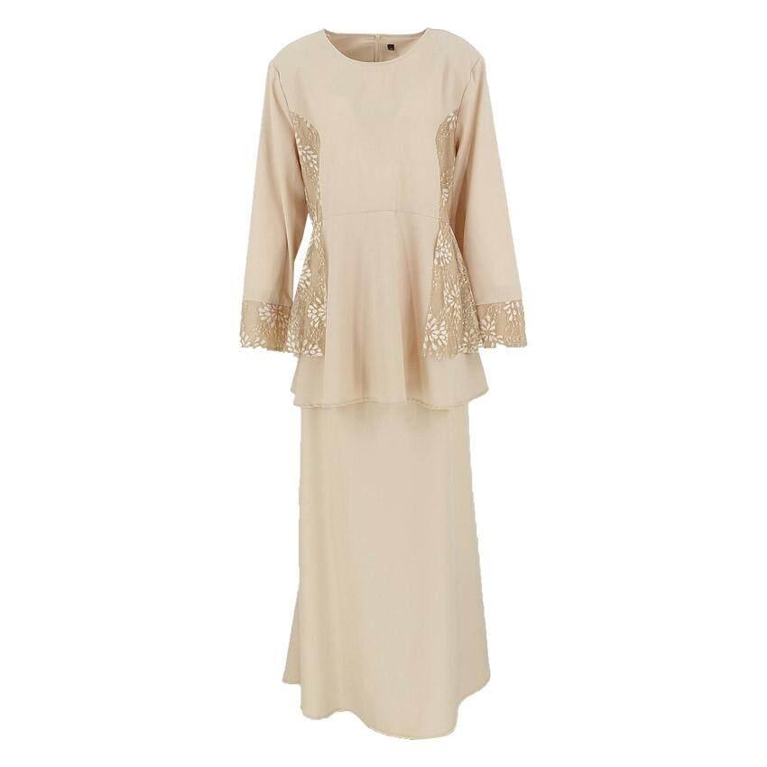 New Collection QFM Faralisa Flower Lace Baju Kurung Moden 2020 Raya Sepasang Muslimah Baju Raya 2020