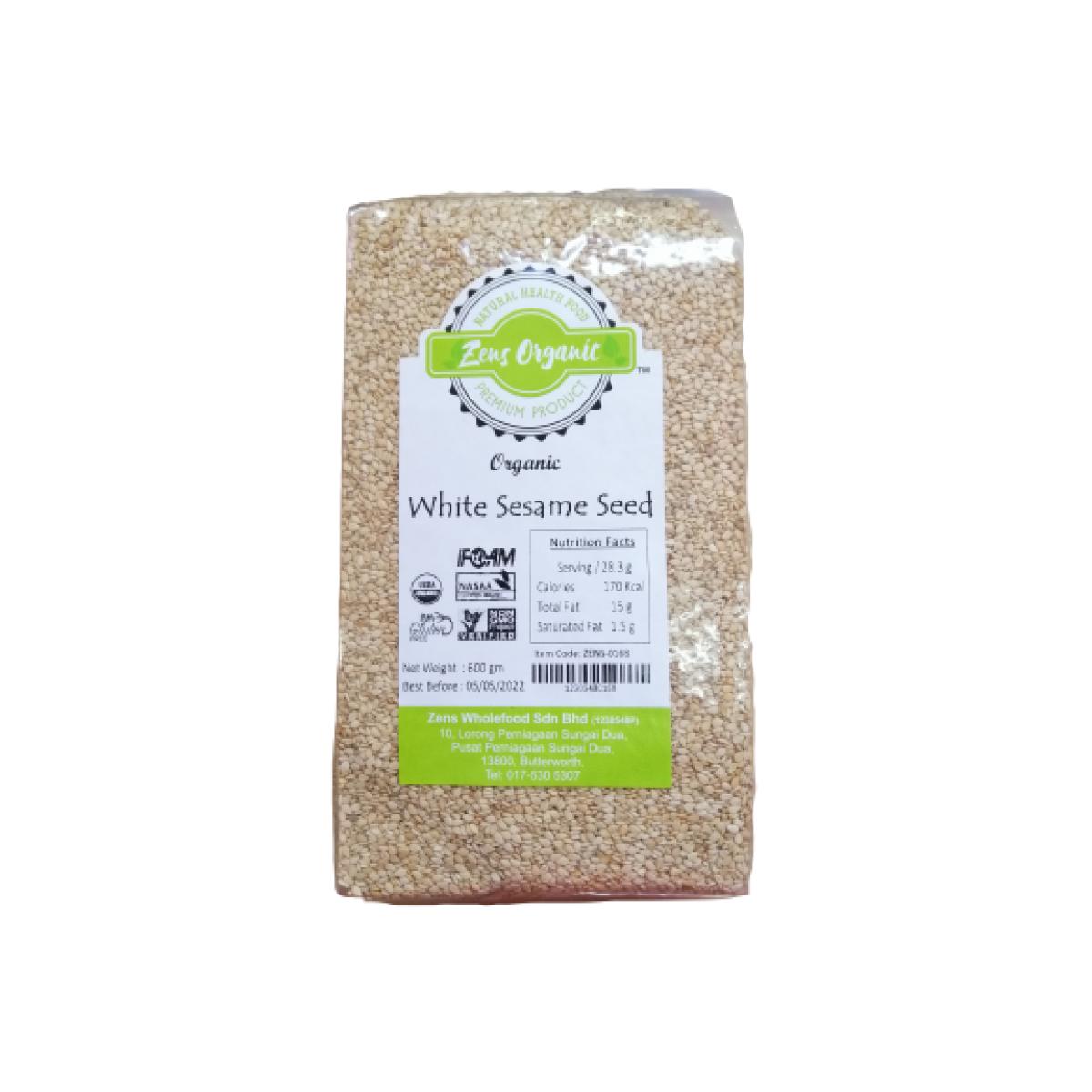 Zens Organic White Sesame Seed 600g