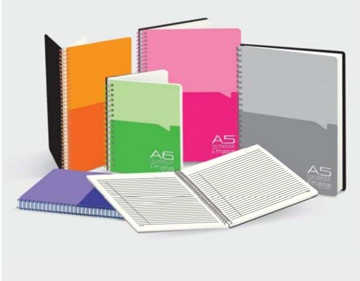 CAMPAP CA3277 A6 60gms 80's WIRE-O PP NOTE BOOK with POCKET x 10pcs