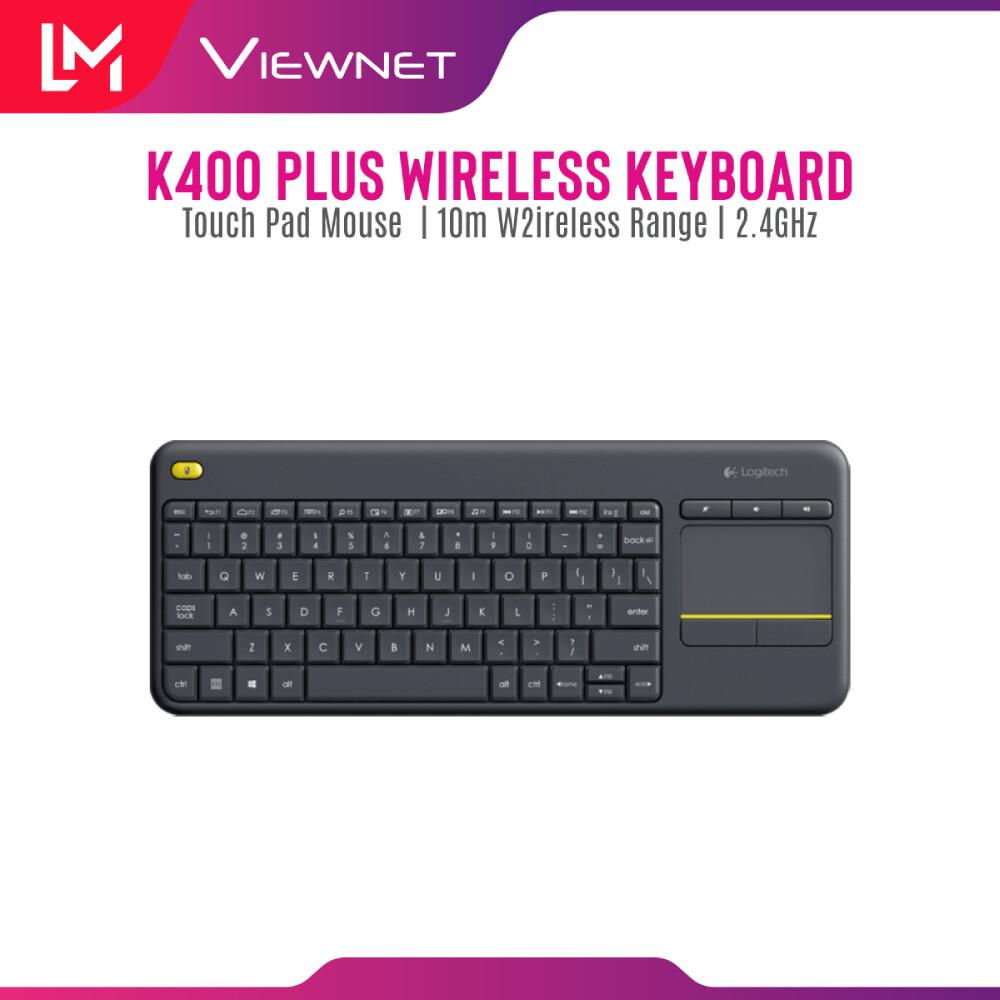Logitech K400 Plus Wireless Touch Keyboard - Black / White