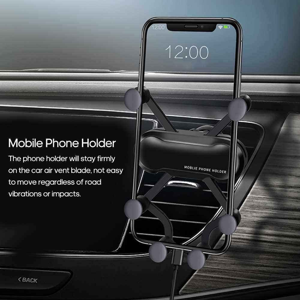 Universal Mobile Phone Holder Gravity Bracket Stand Car Air Vent Mount Smartphone Holder (Red)