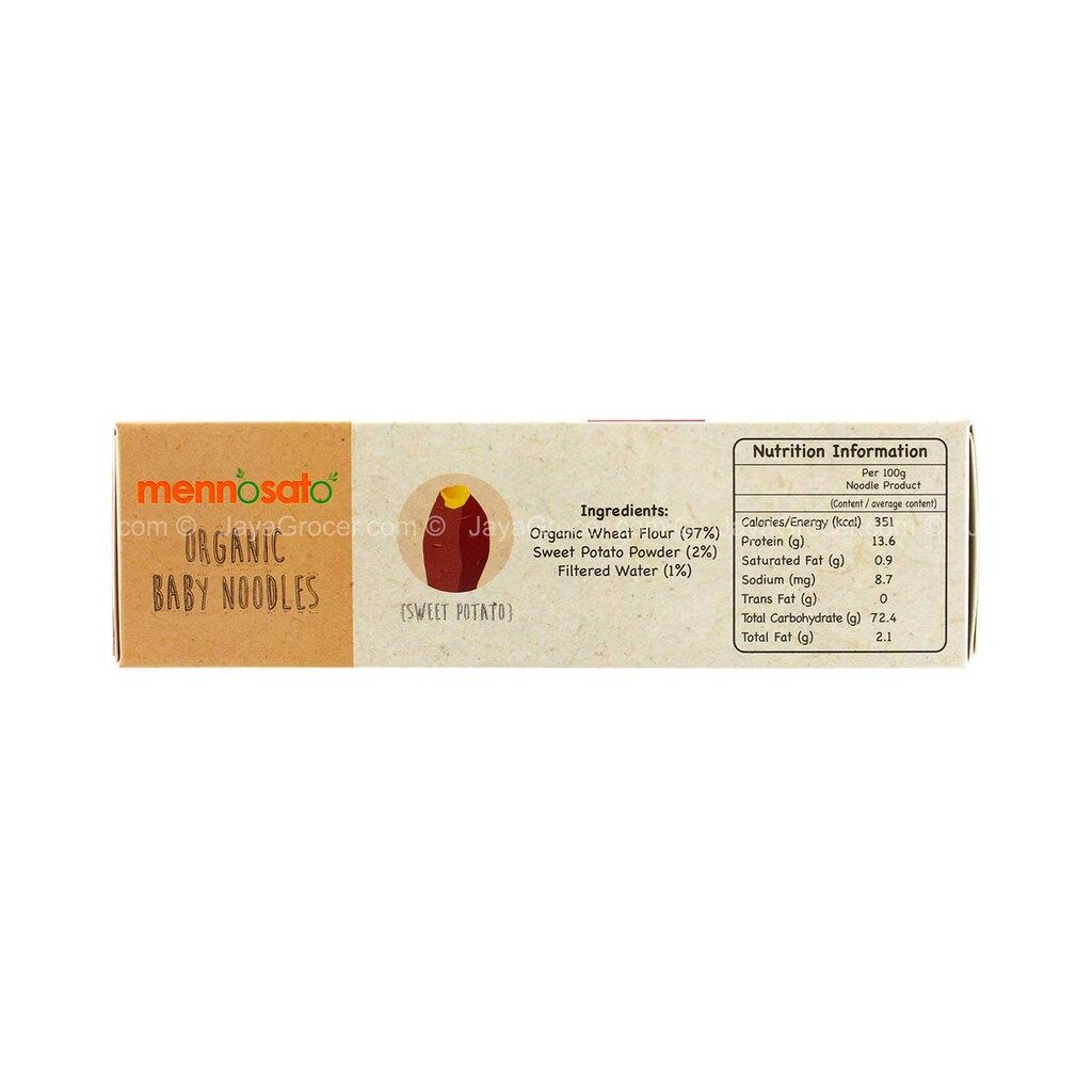 Twin Pack !! Mennosato Organic Sweet Potato Baby Noodle (200G)