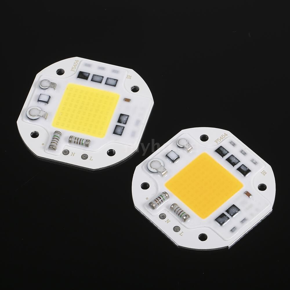 Lighting - AC220V 50W Warm White COB Chip MINI PORTABLE Lamp 54X54mm COB Integration Lamp for Aquarium Flood - WARM WHITE-50W / WARM WHITE-30W / WARM WHITE-20W / WHITE-50W / 30W / 20W