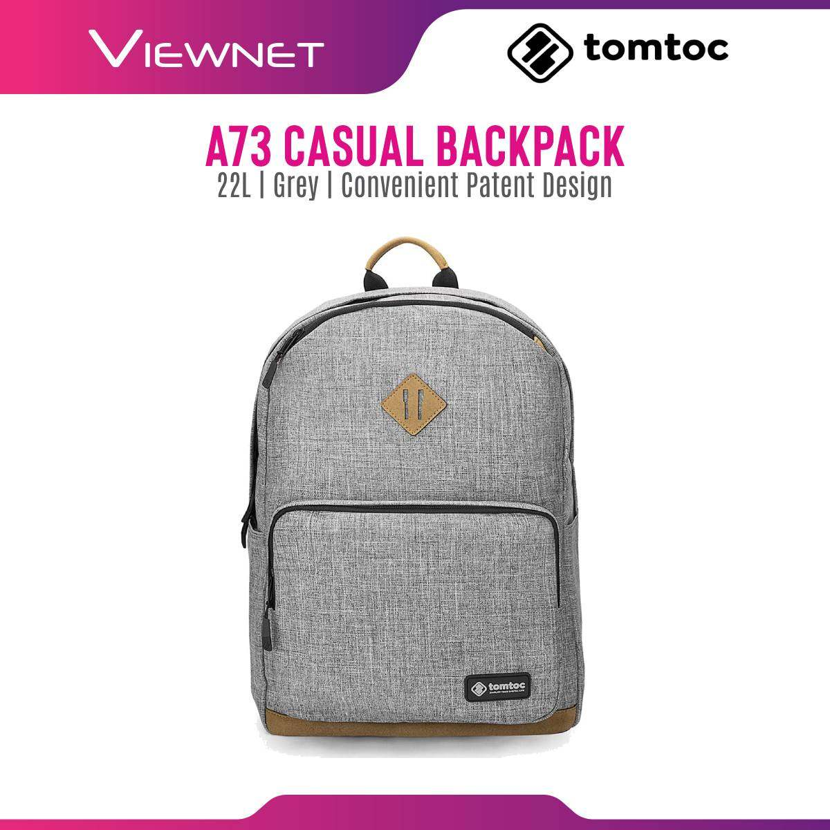Tomtoc A73 Casual Notebook Backpack with Convenient Patent Design