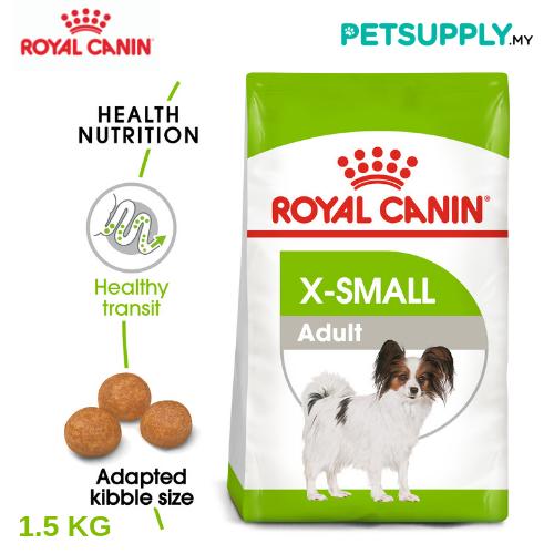 Royal Canin Dry Dog Food XSmall Adult 1.5kg [makanan anjing - PETSUPPLY.MY]