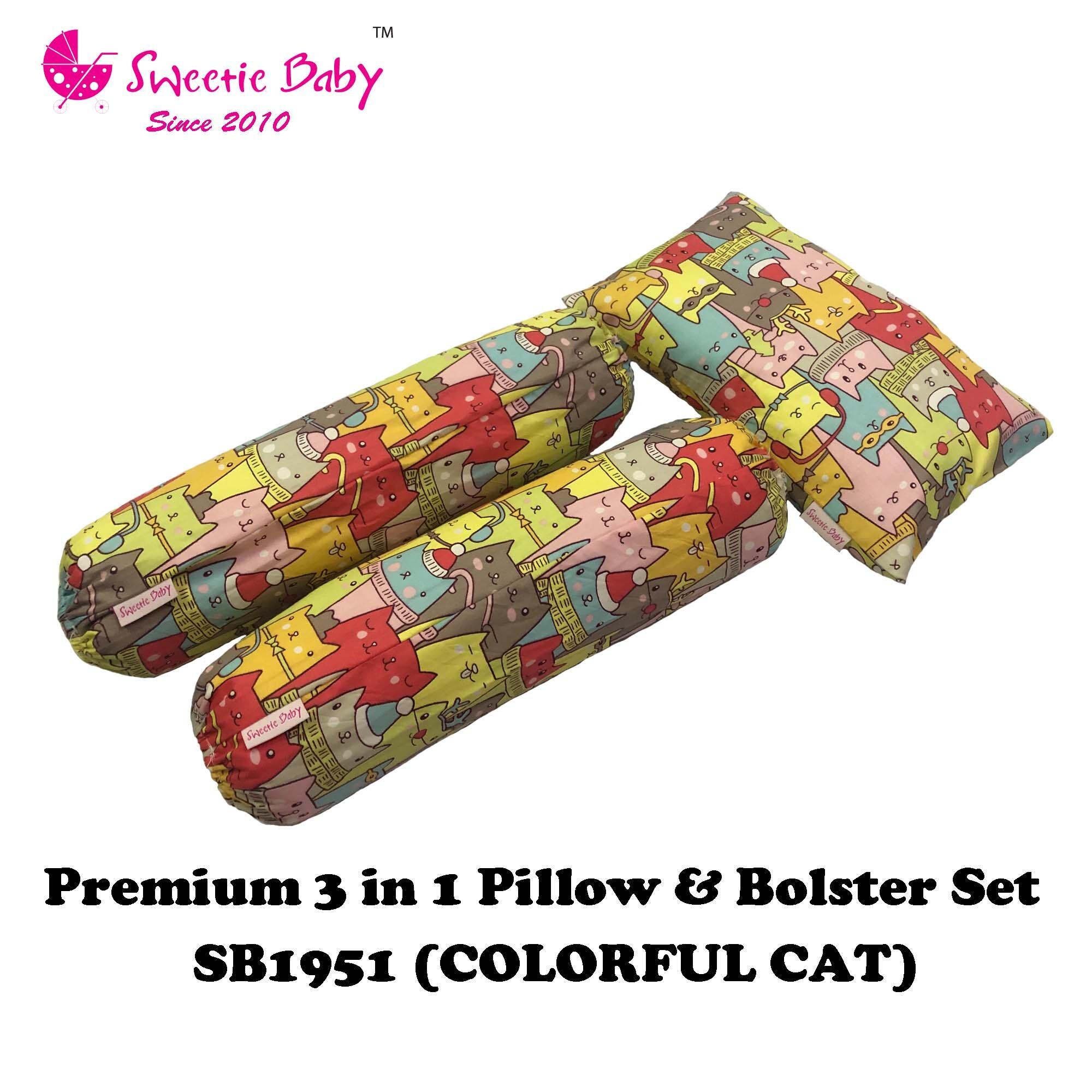 Sweetie Baby Premium 3in1 Pillow & Bolster Set
