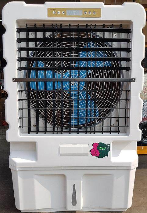 big huge giant large air cooler cooling cool cold ice water power supply filter clean wind blower suction high pressure wheel roll roller rolling tank auto fast fan blade flow chiller low event exhibition mall in out side pump motor electric control use