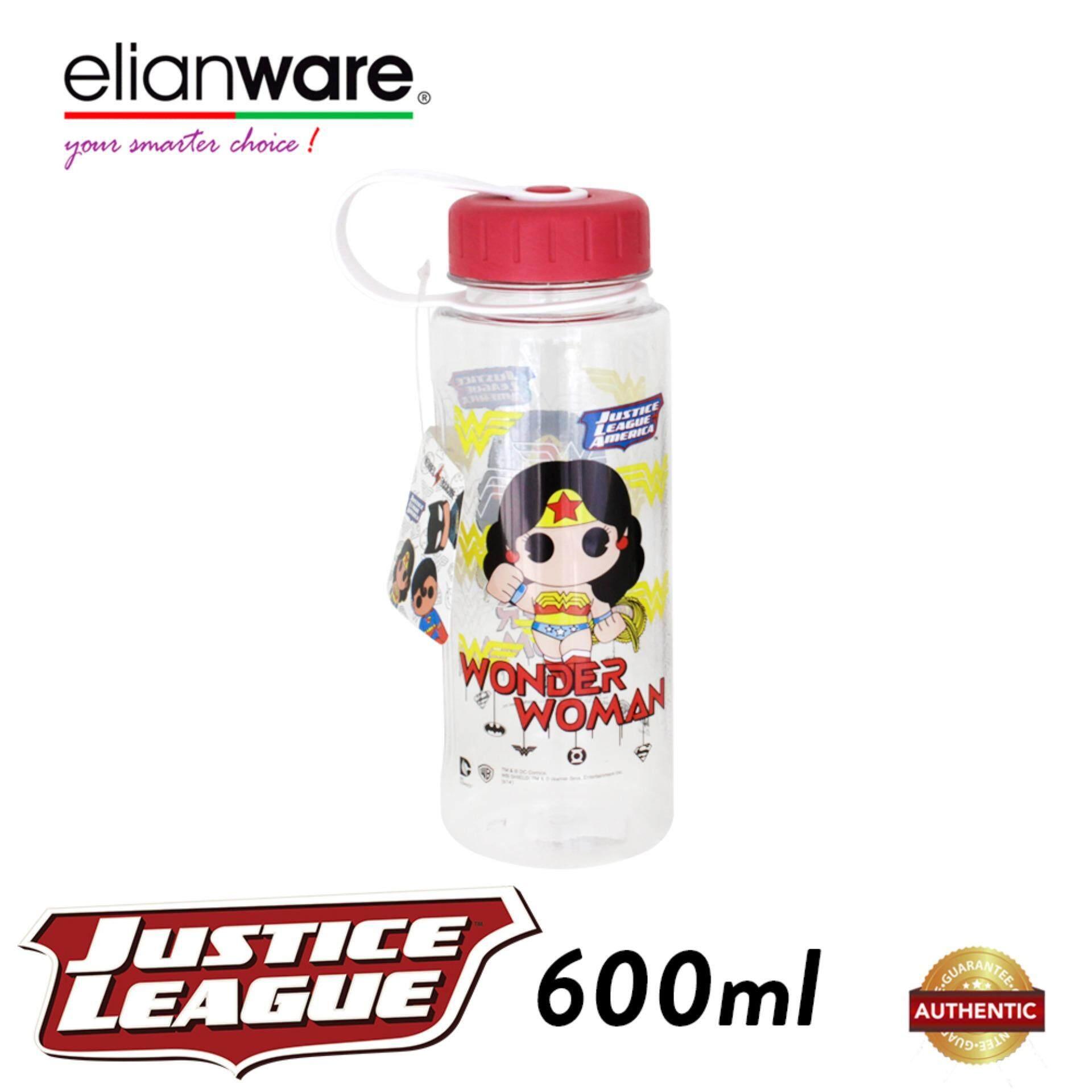 Elianware DC Justice League 600ml BPA Free Heros Water Bottle