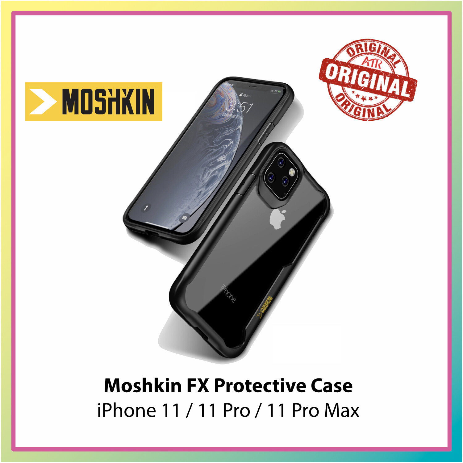 Moshkin FX Protective Case for Apple iPhone 11 / 11 Pro / 11 Pro Max - Black / Clear
