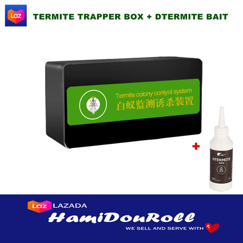 Effective Termite Killer Rule White Ant Lure Box Termite Trapper Kill Termite Bait Box Termite Supplies Economic Forest Farm Supply Odorless Pest Control For Indoor ??????? termite-trapperbox+SPRAY