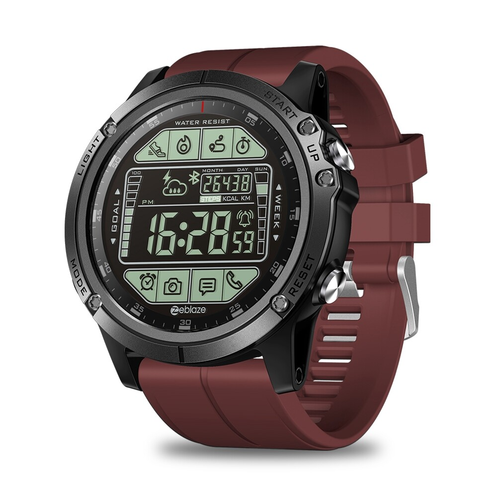 Smart Watch - VIBE 3S Absolute Toughness Real-time Weather Display Goals SETting Message Reminder - BLUE / ORANGE / BLACK / RED
