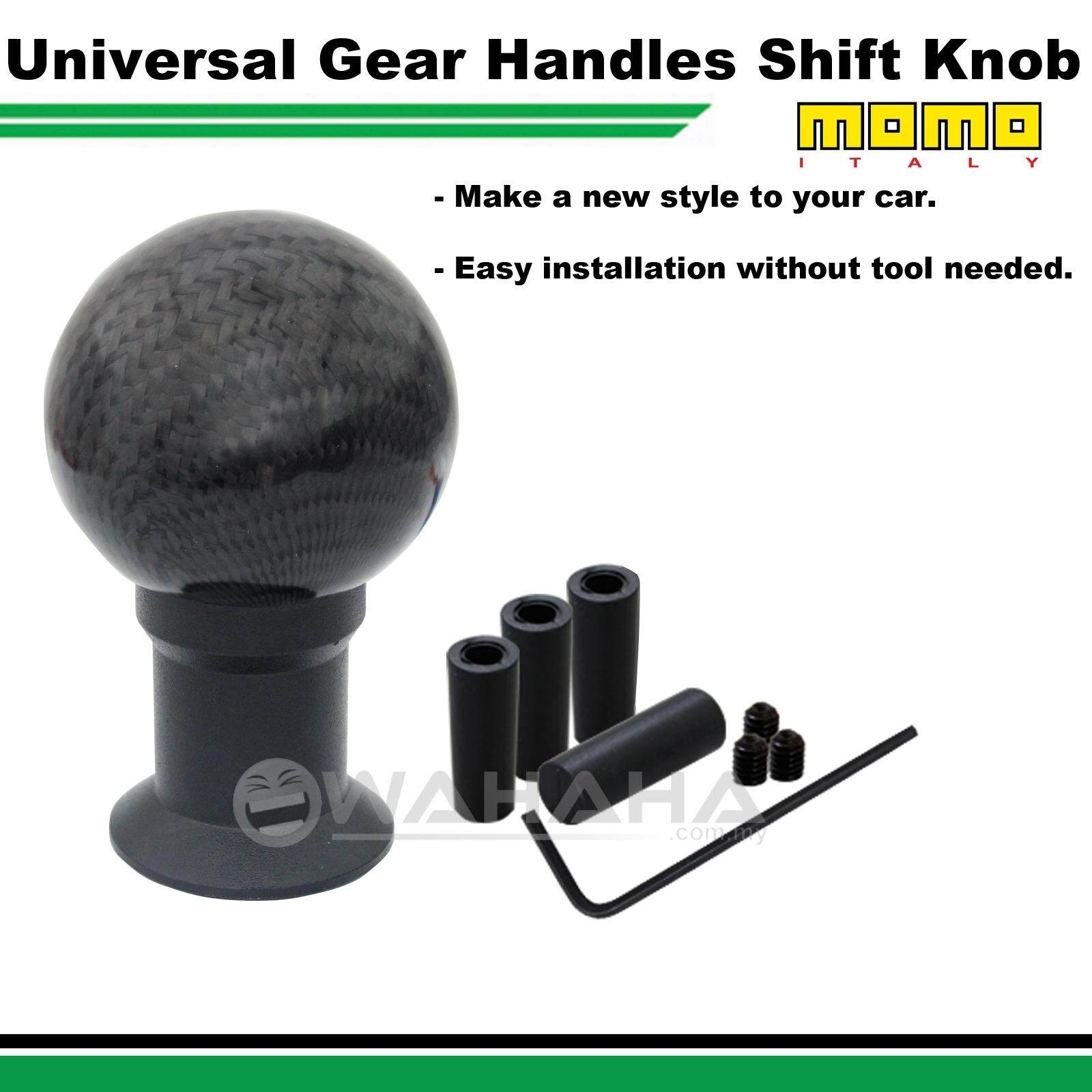 Manual Car Carbon Look Black Universal Shift Knob Car Gear Stick 0845
