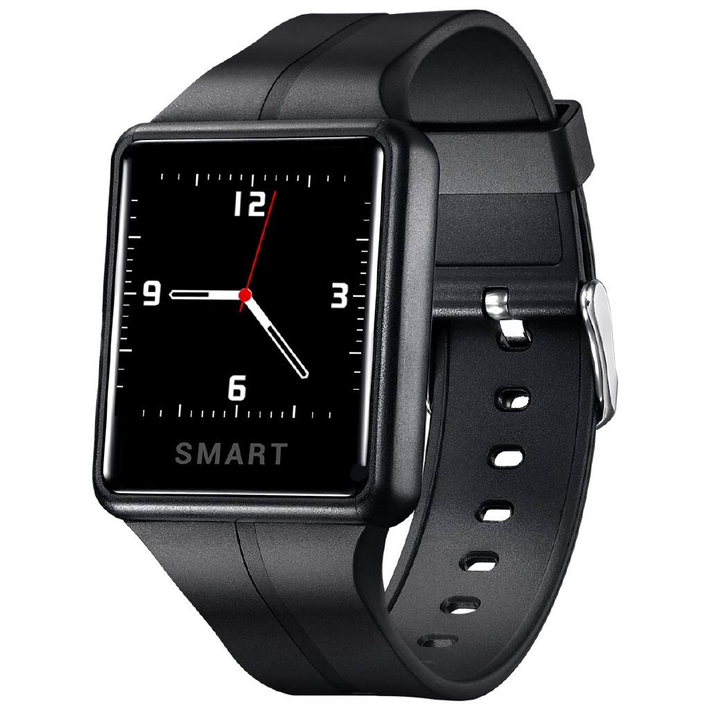 Smart Watch - SW06 Real HD Touch Screen Heart Rate Music Control 7Sports Mode Caller ID Show Smart Watch - BLACK