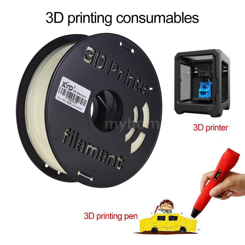 Printers & Projectors - 1KG/ Spool Luminous PLA Filament 1.75mm Diameter Glow in the Dark Printing Material Supply for 3D - GREEN / BLUE